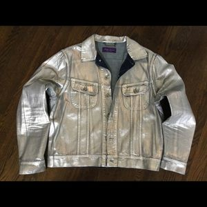 Men's Ralph Lauren Silver Foil denim jacket sz L